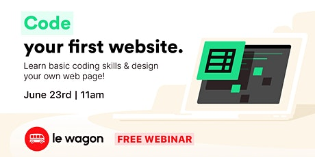 Code your First Website tickets