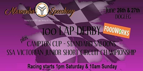 100 LAP DERBY - SUNDAY ONLY tickets