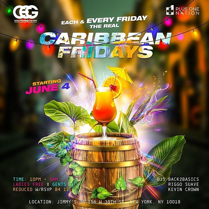 Caribbean Fridays At Jimmys With Free Rum Punch image