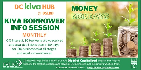Kiva Borrower Info Session: Crowdfunding Loans via DC Kiva Hub @ DSLBD biglietti