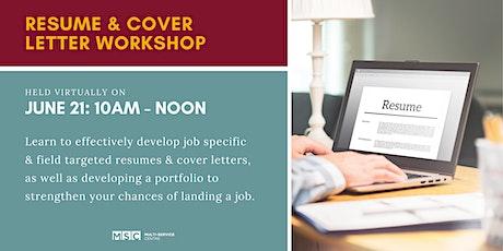 Resume & Cover Letter Workshop tickets