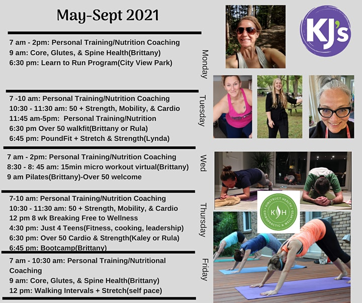 Outdoor Group Fitness (see pic of schedule below) image