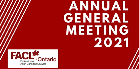 Annual General Meeting 2021 - FACL tickets
