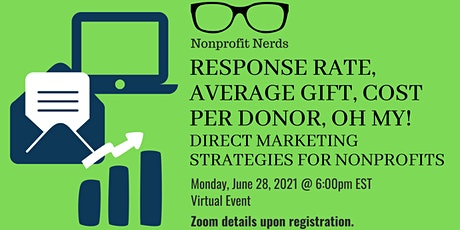 Response Rate, Average Gift, Cost Per Donor, Oh My!: Nonprofit Nerds Event tickets