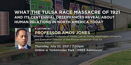 YP Speakers Series - Prof. Amos Jones tickets