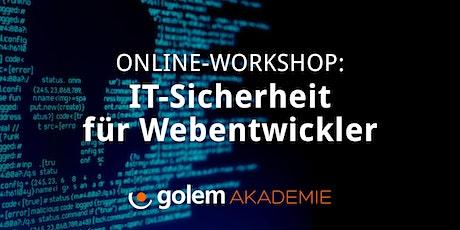 Online-Workshop: IT-Sicherheit für Webentwickler Tickets