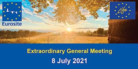 Eurosite Extraordinary General Meeting July 2021 tickets