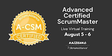 Live Online Advanced Certified Scrum Master Certification (A-CSM) tickets