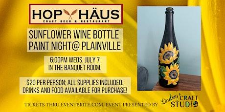 Sunflower Wine Bottle Paint Night tickets