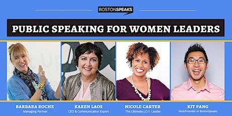 Public Speaking For Women Leaders | BostonSpeaksSeries tickets