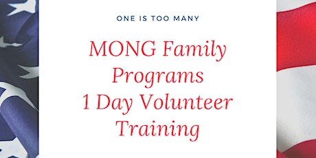 MONG Family Programs 1 Day Volunteer Training tickets
