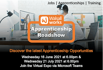 Walsall Works Apprenticeship Roadshow - Virtual Event tickets