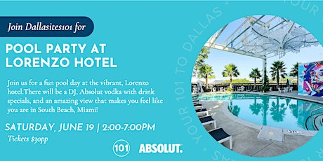 Pool Party at Lorenzo Hotel tickets