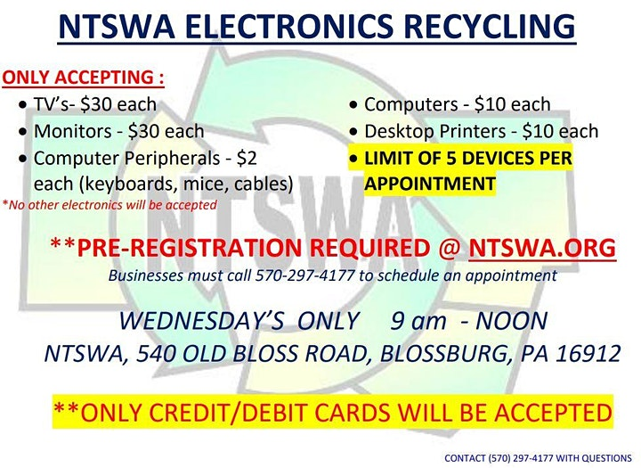 ELECTRONICS RECYCLING COLLECTION - BLOSSBURG, PA image
