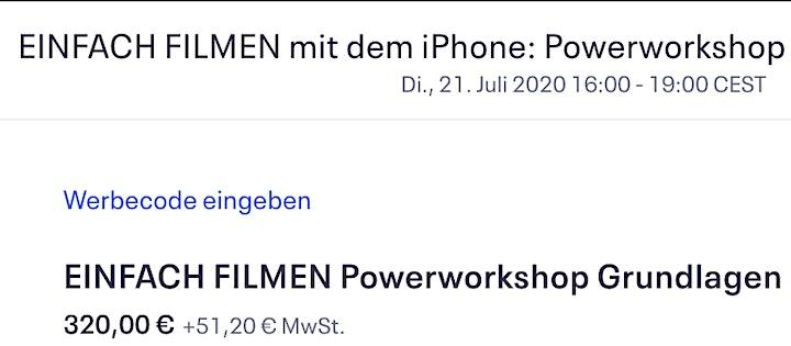 EINFACH FILMEN mit dem iPhone: Powerworkshop Grundlagen 1(ONLINE): Bild