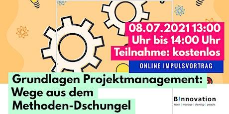 Impulsvortrag:Projektmanagement Grundlagen | Wege aus dem Methodendschungel Tickets