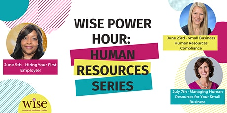 WISE Power Hour - Managing Human Resources for Your Small Business tickets