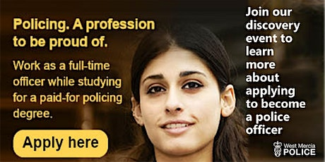 Discovery Session - West Mercia Police student police officers tickets