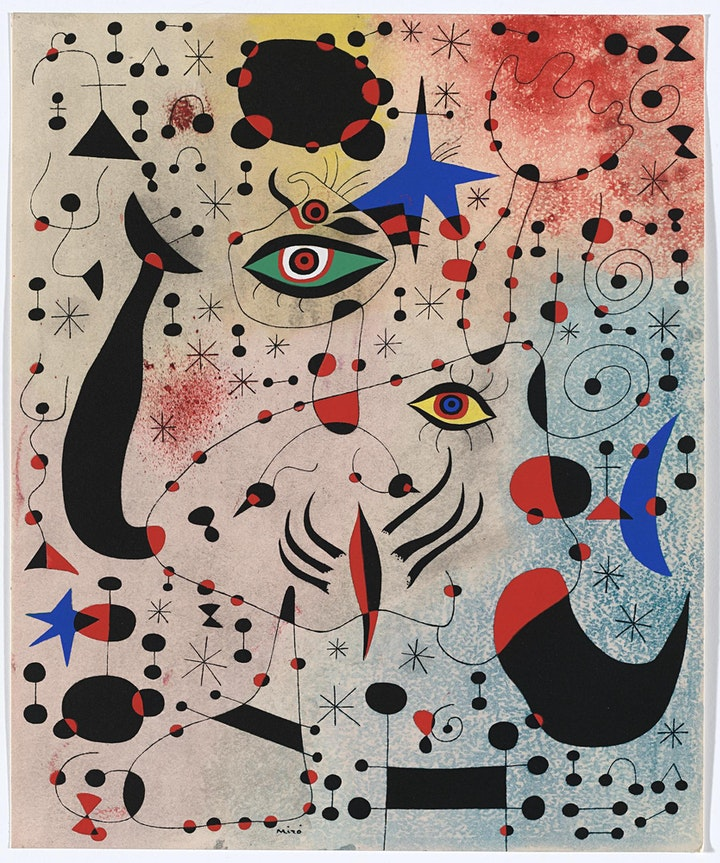 Paint - JOAN MIRO -  ART BINGO - ZOOM - £10 image