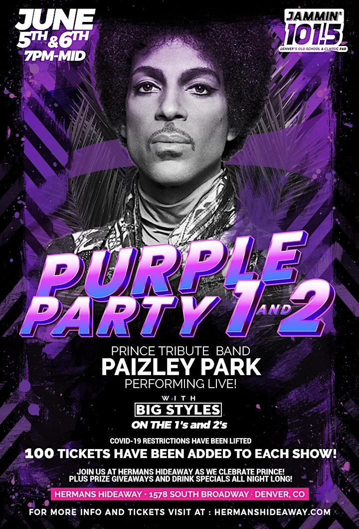 Night 2- PURPLE PARTY ft. Paizley Park (Prince's B image