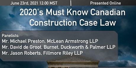2020's Must Know Canadian Construction Case Law tickets