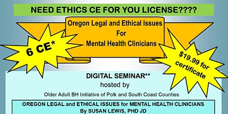 Ethics for Mental Health Clinicians tickets