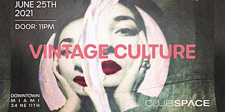 Vintage Culture @ Club Space Miami tickets