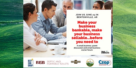 Make your business bankable....make your business sellable! tickets