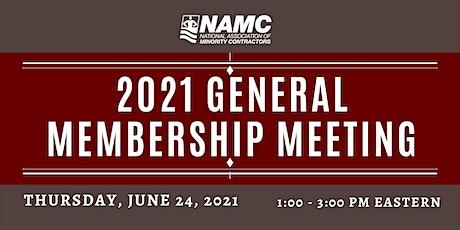 2021 NAMC GENERAL MEMBERSHIP MEETING tickets