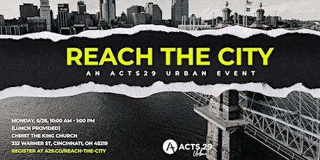 Acts 29 Urban - Reach the City tickets