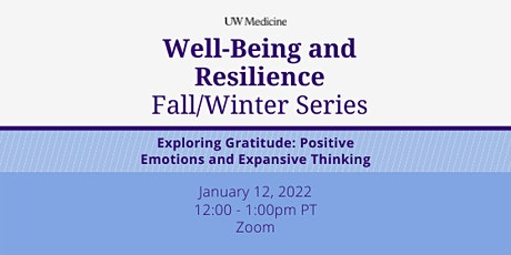 Well-Being & Resilience Series: Exploring Gratitude tickets