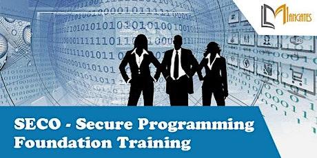 SECO – Secure Programming Foundation Virtual Training in Saltillo tickets