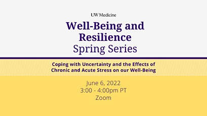 Well-Being & Resilience Series: Coping with Uncertainty tickets