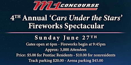 4th Annual Cars Under Stars Fireworks Spectacular tickets