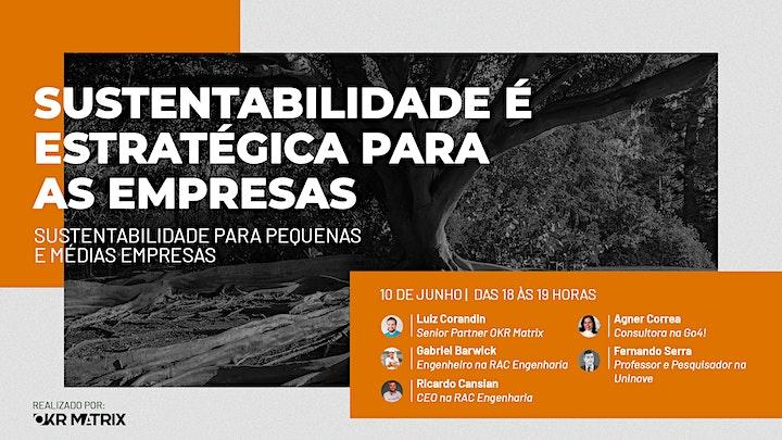 SUSTENTABILIDADE É ESTRATÉGICA PARA AS EMPRESAS e AS PESSOAS- Sessão 3 image