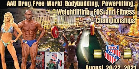 AAU World Powerlifting, Bodybuilding, Weightlifting, Strongman/FOS & MAS tickets