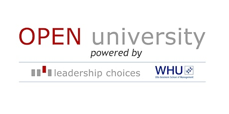 OPEN University-  powered by Leadership Choices and WHU tickets