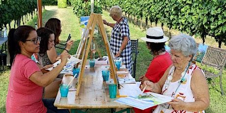 Colour Me Wine! sessione di pittura  in vigneto e degustazione vini biglietti