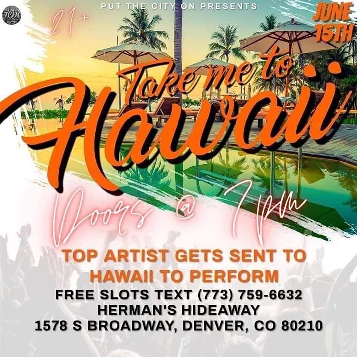 TAKE ME TO HAWAII (Top Artist Sent To Hawaii to Perform) - SLOTS AVAIL! image