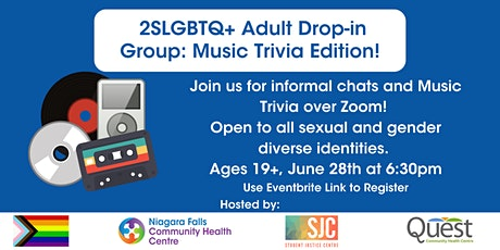 2SLGBTQ+ Adult Drop-In Group: Music Trivia Edition! tickets