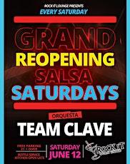 Sabados Rumberos Salsa en Vivo con Orquesta Team Clave en Rock It Lounge tickets