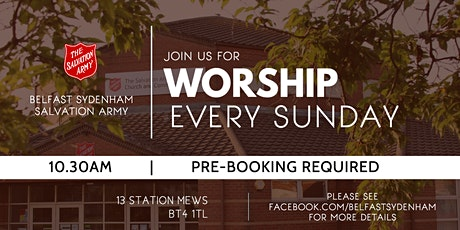 Morning Worship at Belfast Sydenham 20 June 2021 tickets