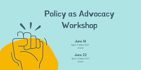 Policy as Advocacy Workshop tickets