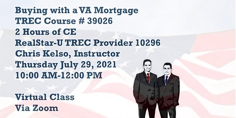 Buying with a VA Mortgage tickets