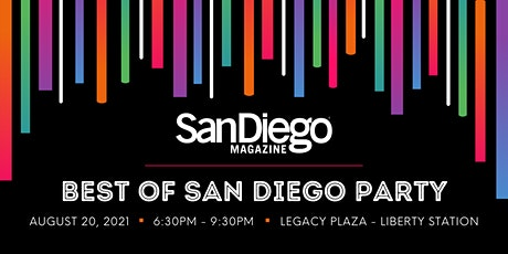 San Diego Magazine's 2021 Best of San Diego Party tickets