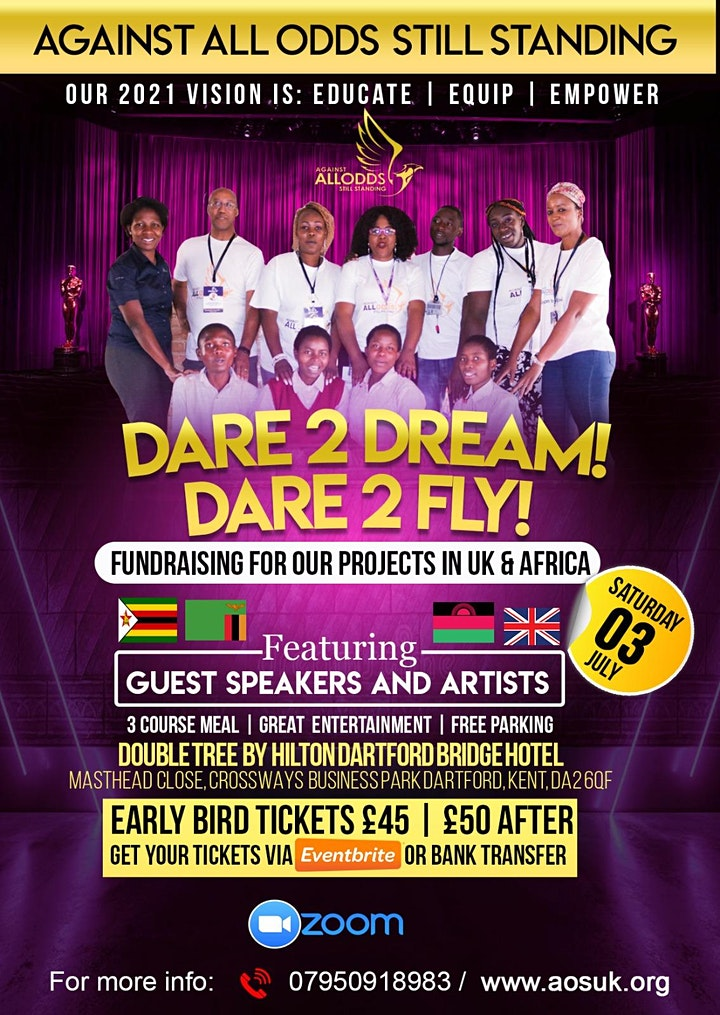 Dare to Dream Dare to Fly! Against All Odds  Fundraising  Anniversary Party image