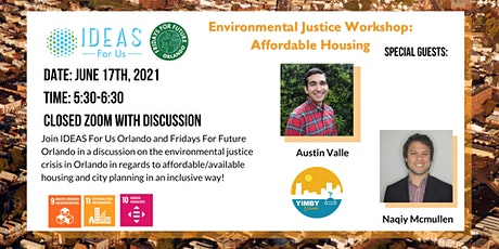 Environmental Justice Workshop: Affordable Housing tickets