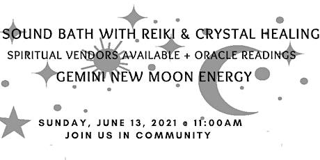 Sound Bath with Reiki and Crystal Healing + Spiritual Vendors tickets