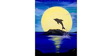 60min Paint Landscape Scenery: Dolphin Shillouette@1PM  (Ages 6+) tickets