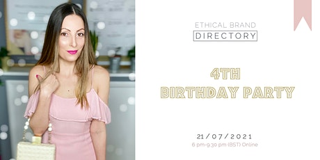 Ethical Brand Directory's 4th Birthday Party (Online) tickets